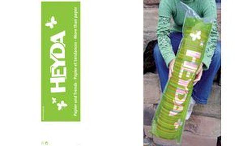 HEYDA Sac tube plastique avec impression publicitaire HEYDA